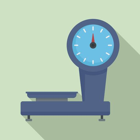 Old market scales icon. Flat illustration of old market scales vector icon for web design