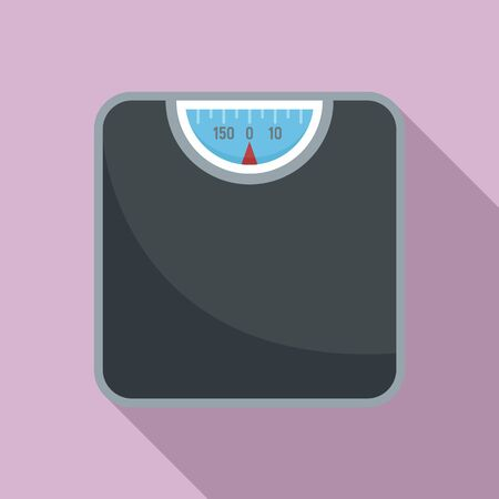 Room scales icon, flat style Ilustracja