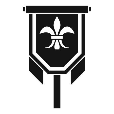 Knight emblem icon, simple style 向量圖像