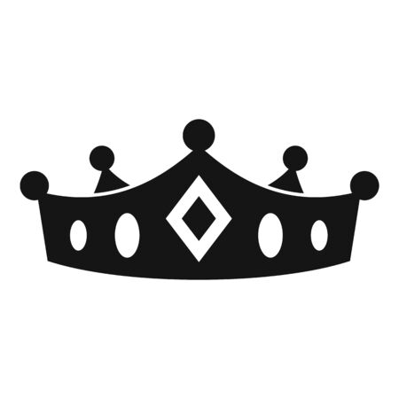 Knight crown icon, simple style
