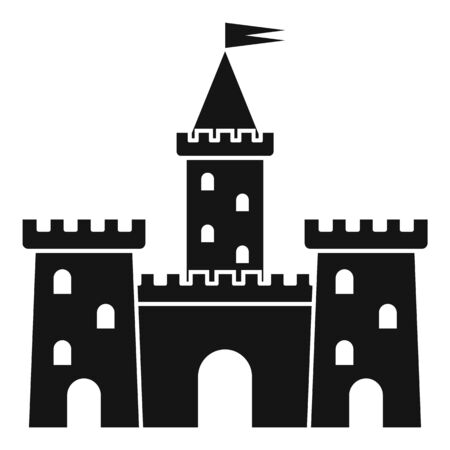 Knight castle icon, simple style Ilustracja