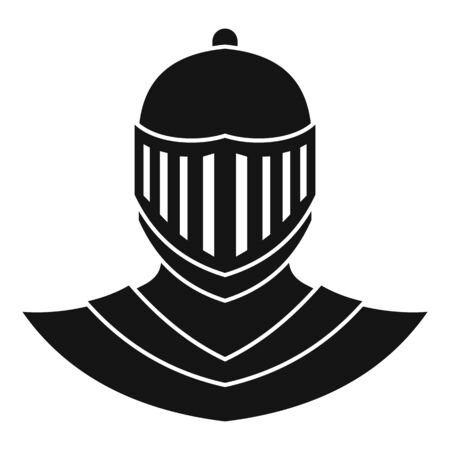 Knight helmet avatar icon, simple style