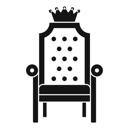 King armchair icon, simple style