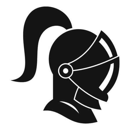 Knight avatar icon, simple style Foto de archivo - 130313430