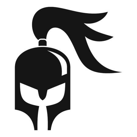 Knight helmet icon, simple style 向量圖像