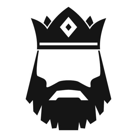 Knight king icon, simple style