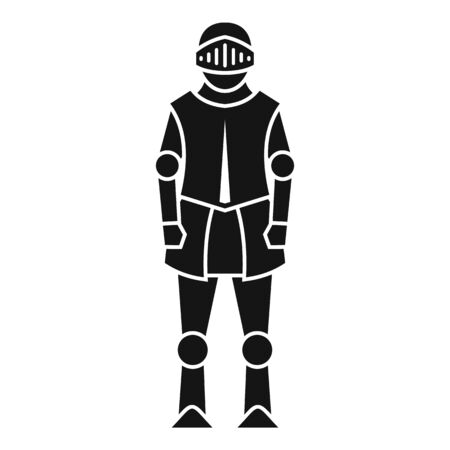 Medieval knight icon. Simple illustration of medieval knight vector icon for web design isolated on white background