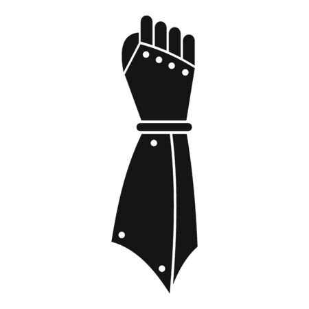 Knight hand icon, simple style