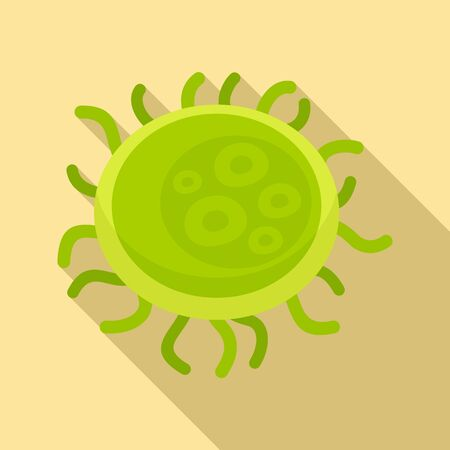 Bacteria icon, flat style
