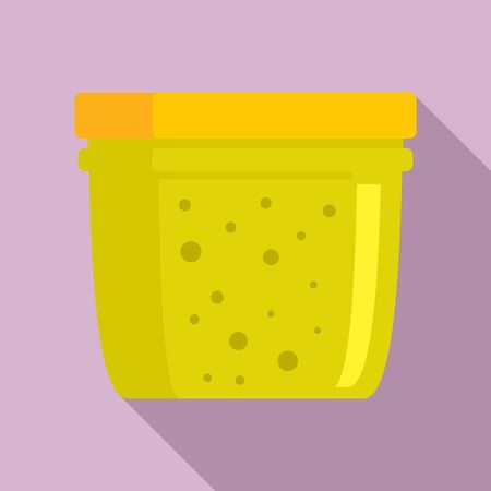 Home jam jar icon, flat style
