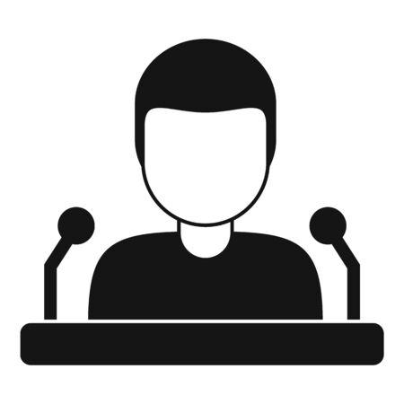 University speaker icon, simple style