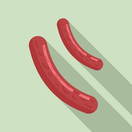 Bacteria sticks icon, flat style 向量圖像