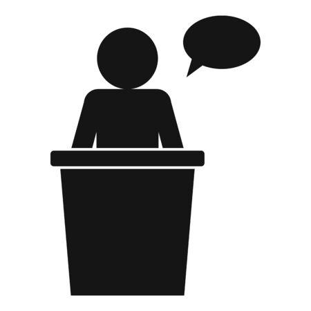 Student speaker icon, simple style 向量圖像