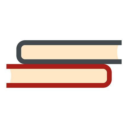 Books stack icon, flat style