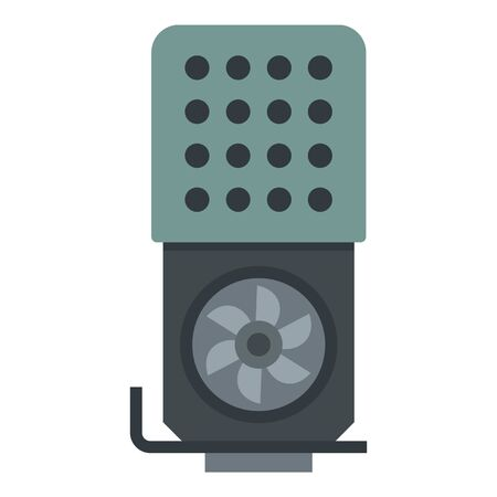 Modern video card icon. Flat illustration of modern video card vector icon for web design