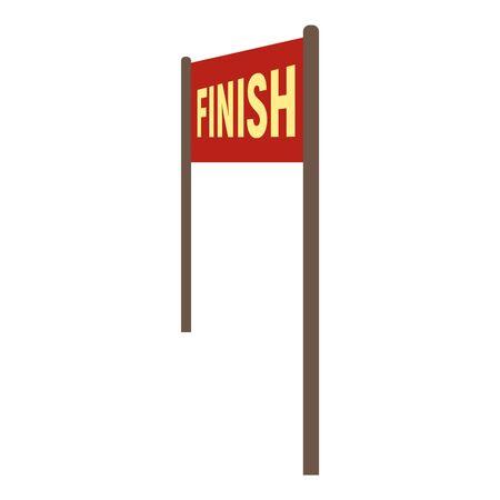 Finish banner icon, flat style