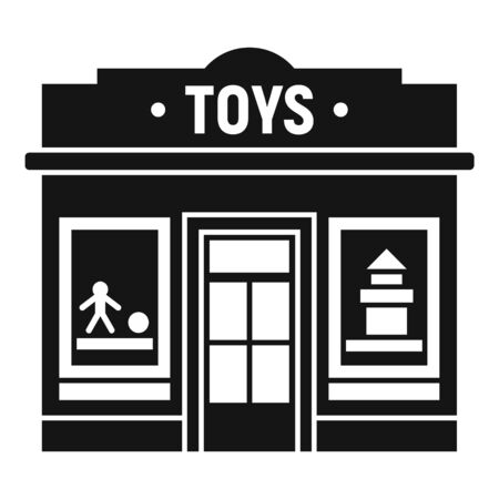 Toys street shop icon. Simple illustration of toys street shop vector icon for web design isolated on white background 向量圖像