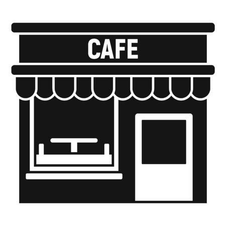 Cafe street shop icon. Simple illustration of cafe street shop vector icon for web design isolated on white background Stock Illustratie