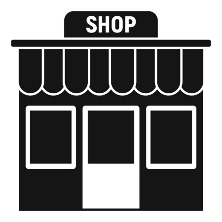 Street shop icon. Simple illustration of street shop vector icon for web design isolated on white background