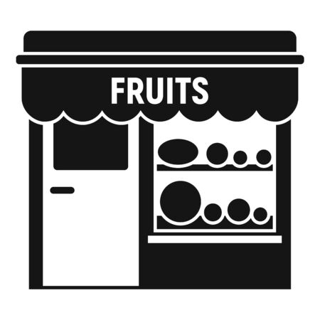 Fruits street shop icon. Simple illustration of fruits street shop vector icon for web design isolated on white background