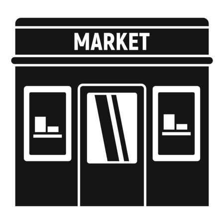 Street market icon. Simple illustration of street market vector icon for web design isolated on white background