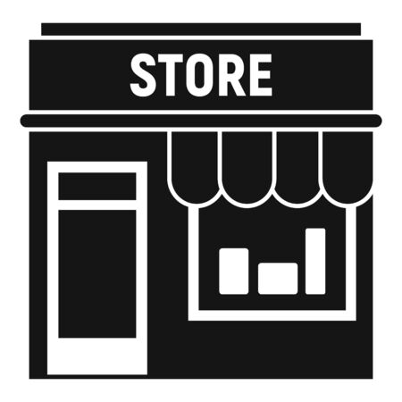 Street shop store icon. Simple illustration of street shop store vector icon for web design isolated on white background Stock Illustratie
