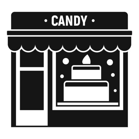 Candy street shop icon. Simple illustration of candy street shop vector icon for web design isolated on white background