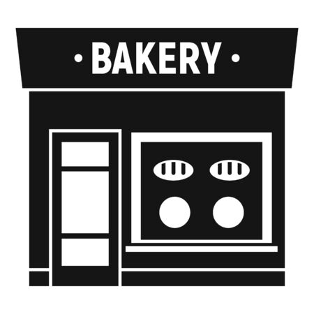 Bakery street shop icon. Simple illustration of bakery street shop vector icon for web design isolated on white background