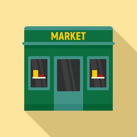 Street market icon. Flat illustration of street market vector icon for web design