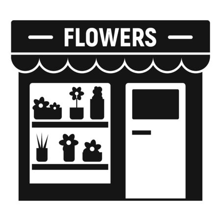 Flowers street shop icon. Simple illustration of flowers street shop vector icon for web design isolated on white background