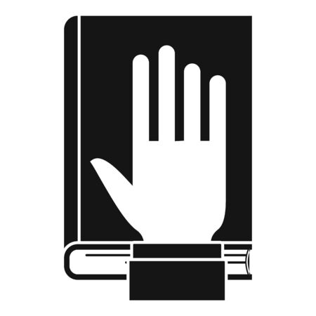 Lawyer oath icon, simple style