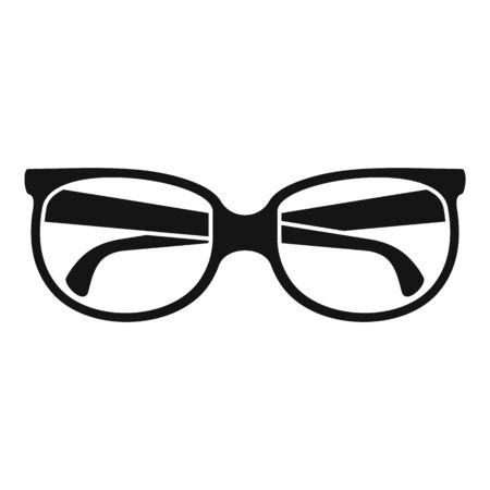 Eyeglasses icon, simple style