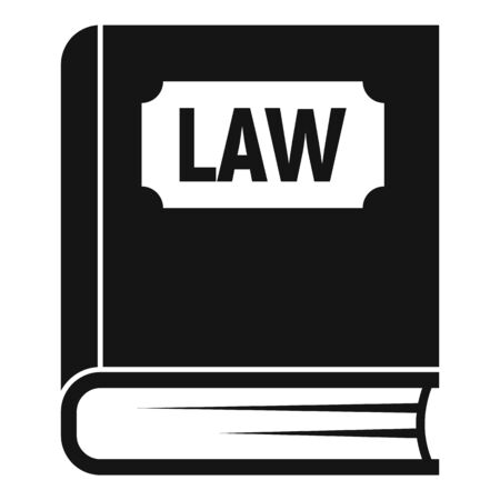 Law book icon. Simple illustration of law book vector icon for web design isolated on white background Ilustrace