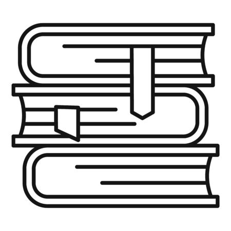 Law book stack icon, outline style  イラスト・ベクター素材