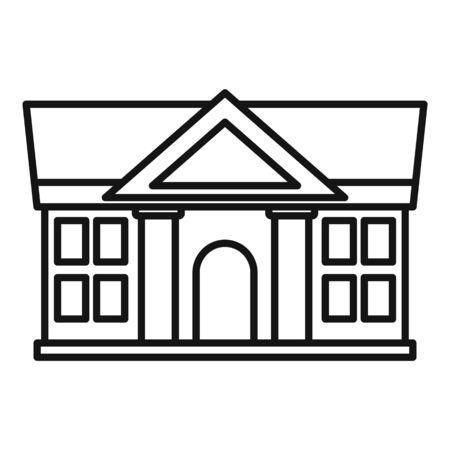 Justice court building icon, outline style