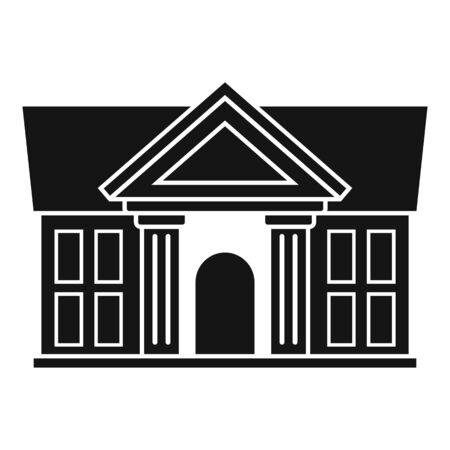 Justice court building icon, simple style