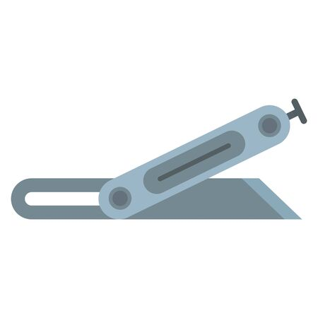 Metal angle knife icon, flat style