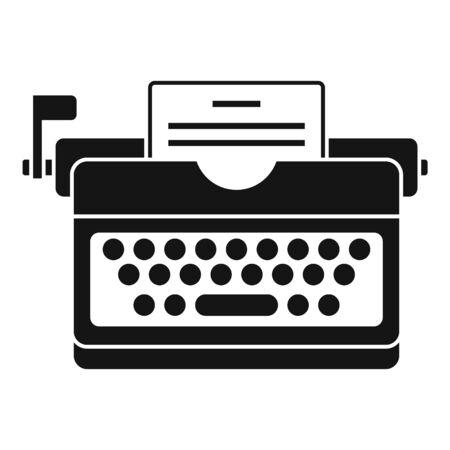 Typewriter icon, simple style