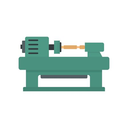 Trim carpentry icon, flat style Illustration