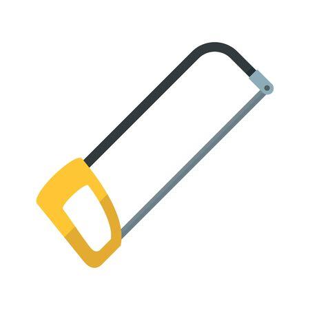 Hacksaw icon, flat style