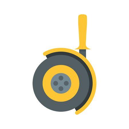 Angle cut machine icon, flat style