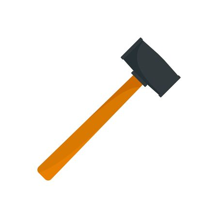 Rubber hammer icon, flat style