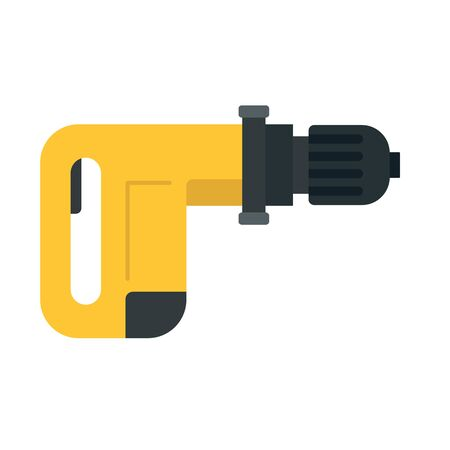 Power drill icon. Flat illustration of power drill vector icon for web design