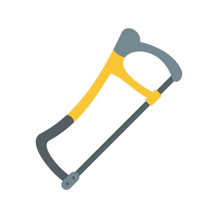 Hand saw icon. Flat illustration of hand saw vector icon for web design Illustration