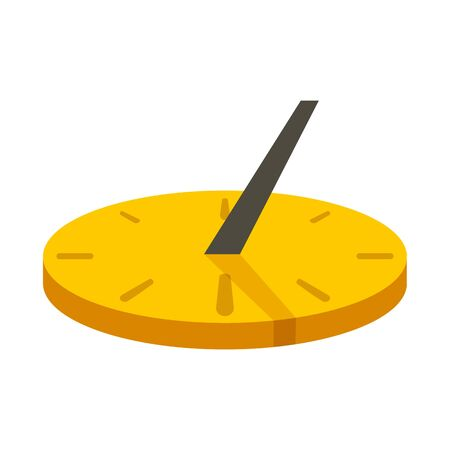 Old sundial icon. Flat illustration of old sundial vector icon for web design 일러스트