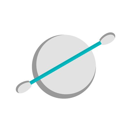 Clean lens stick icon, flat style Vectores