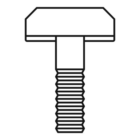Clamp screw bolt icon, outline style