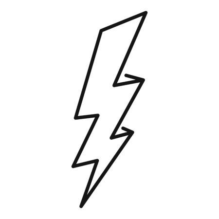 Zigzag lightning bolt icon, outline style Ilustración de vector