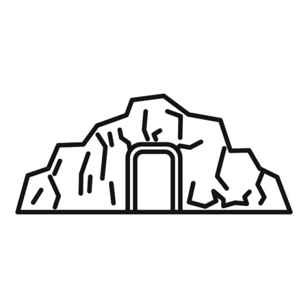 Coal industry mine icon, outline style