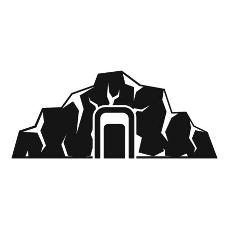 Coal industry mine icon, simple style